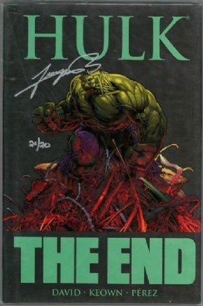 Hulk The End Hardcover Graphic Novel Dynamic Forces Signed George Perez DF COA Ltd 20 Marvel Comics